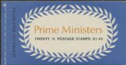 ACSC B139 A.e. 1972-73 70c Prime Ministers Booklet (ABA/341)